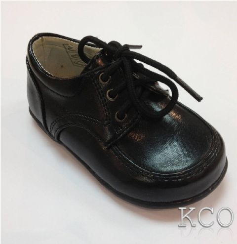 Style 171-04 Black~Boys Black Shoes